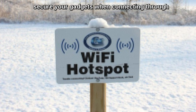 public wifi connection security