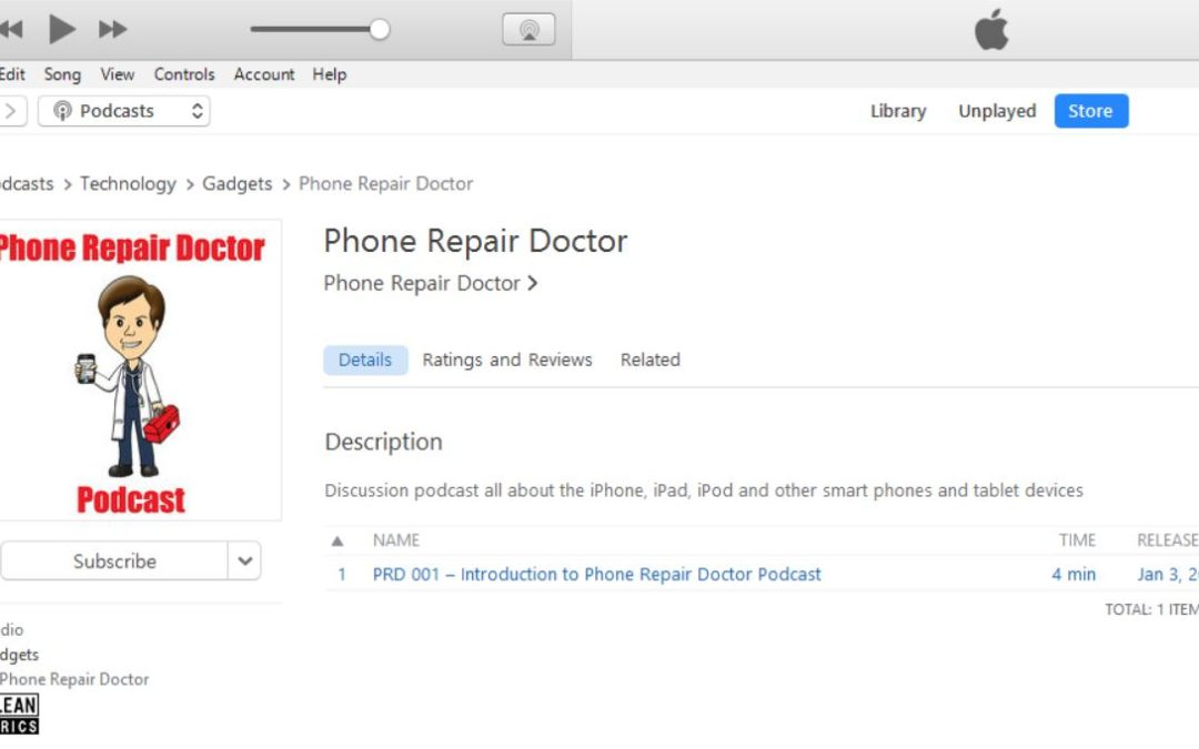 PRD 001 – Introduction to Phone Repair Doctor Podcast